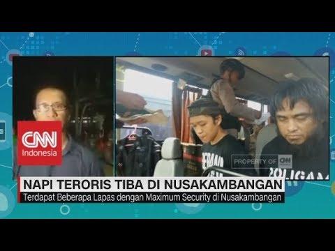 LIVE Report: Napi Teroris Mako Brimob Tiba di Nusakambangan
