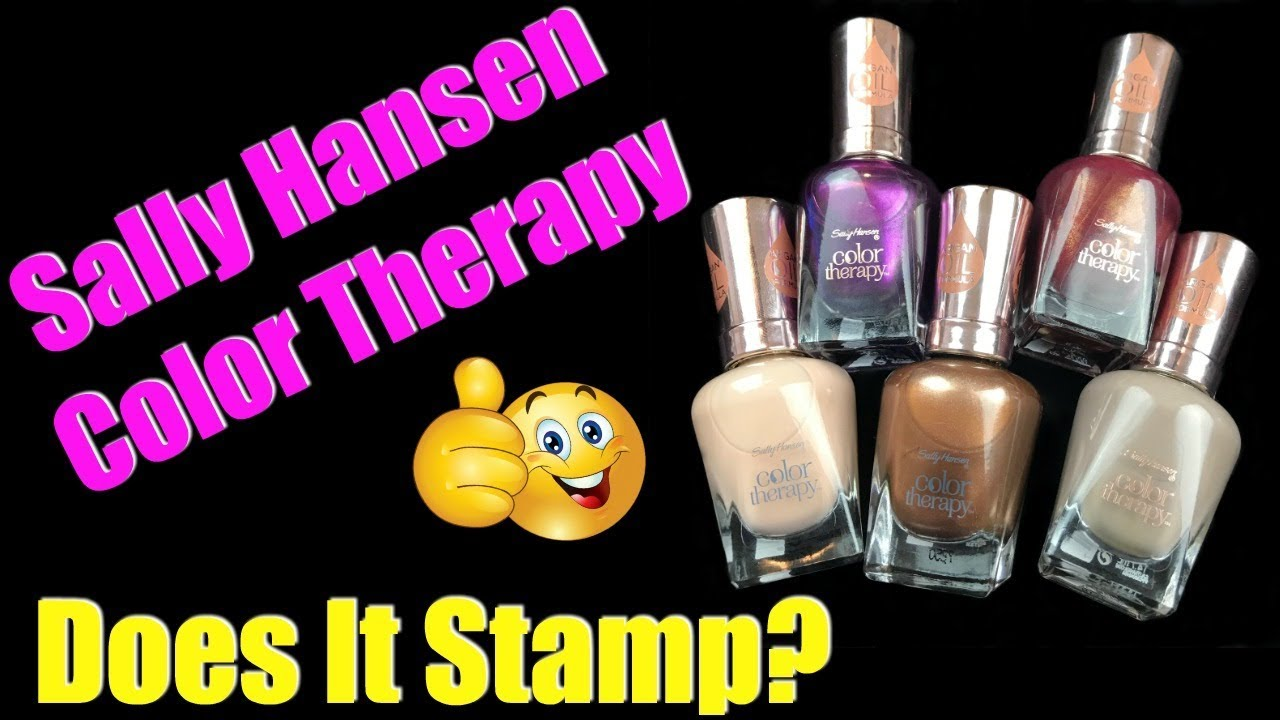 SALLY HANSEN COLOR THERAPY | DOES IT STAMP? - YouTube