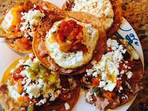 Tostadas de Huevos Rancheros / Mexican Eggs on  Huevos Rancheros Tostada
