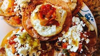 Tostadas de Huevos Rancheros  Mexican Eggs on  Huevos Rancheros Tostada