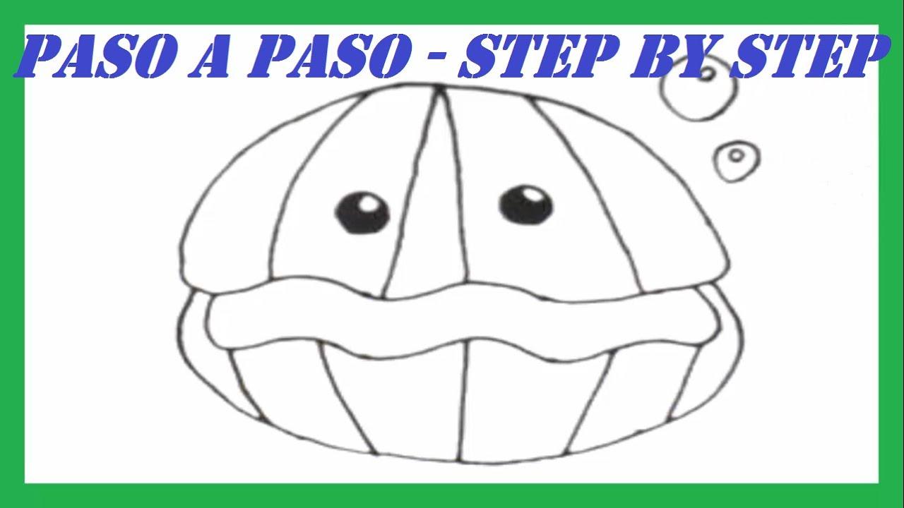 Como Dibujar Una Ostra Paso A Paso L How To Draw A Ostra Step By Step