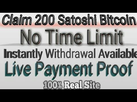 UnBitCoin.Xyz Claim 200 Satoshi Unlimited Time Payment Proof Direct BitCoin    Wallet