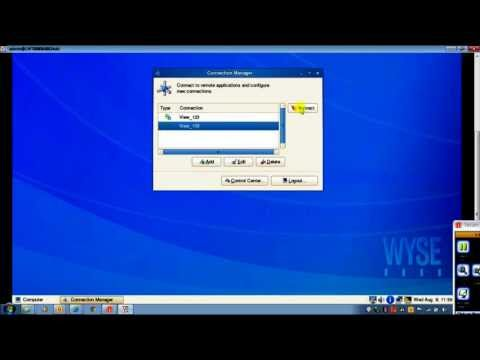 Launching two VMware connections from Wyse Suse Linux based thin clients