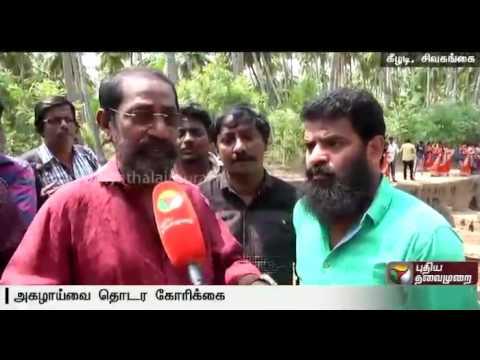 Kollywood Celebrities Visit Excavation Works In Keezhadi, Madurai