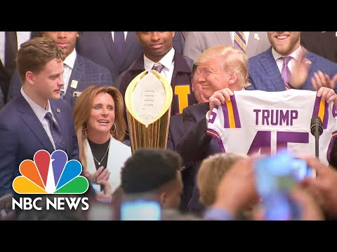 President Donald Trump Honors College Football Champion LSU At The White House | NBC News