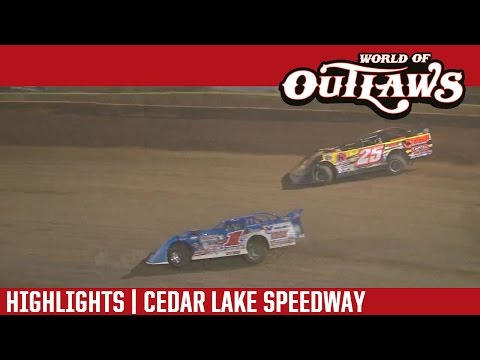 World of Outlaws Craftsman Late Models Cedar Lake Speedway August 6th, 2016 | HIGHLIGHTS
