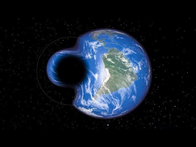 Was passiert, wenn die Erde ein schwarzes Loch berührt...