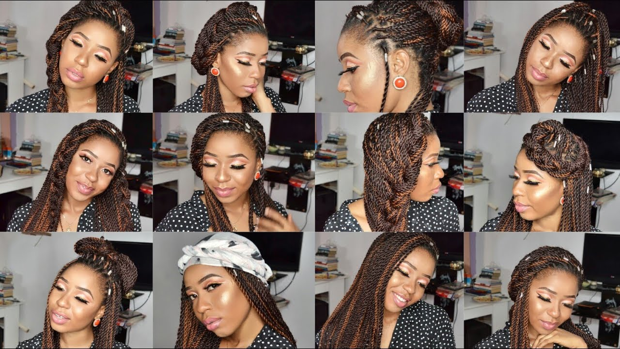 15 Ways To Style Box Braids Quick Easy And Stylish 2017 Youtube
