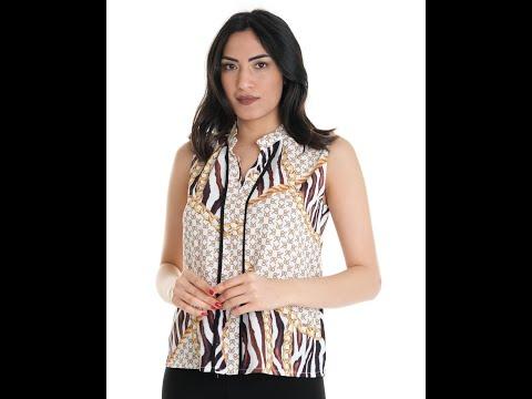 土耳其Pole & Pole 米黑圖騰無袖襯衫