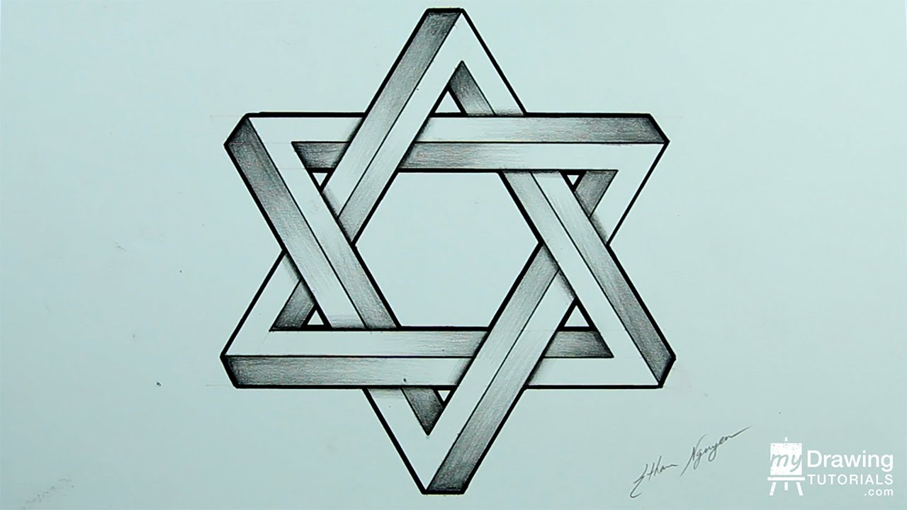 Drawing an impossible star of david impossible shapes time drawing an impossible star of david impossible shapes time lapse youtube biocorpaavc Choice Image
