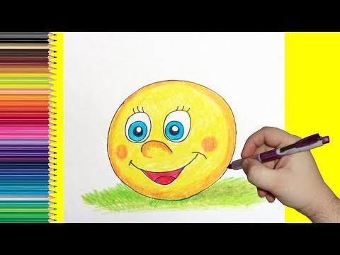 Как нарисовать колобок карандашом