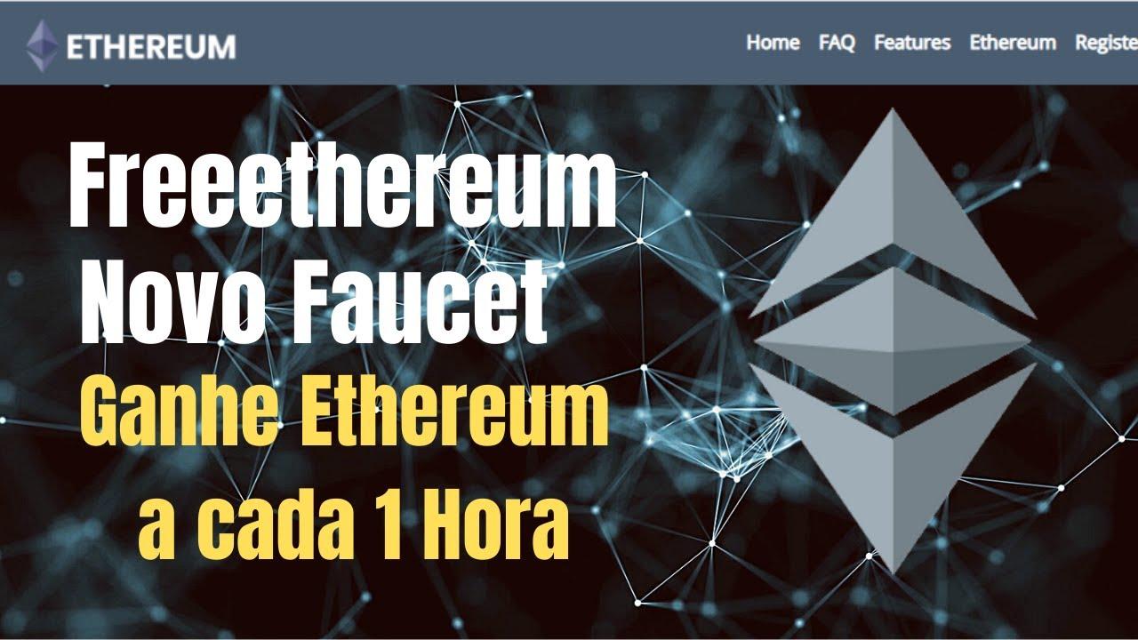 Freeethereum Novo Faucet de Ethereum Ganhe até $300 a cada 1 Hora