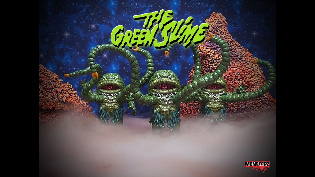 Monstarz THE GREEN SLIME Retro Action Figure. Order now at www.amoktime.com