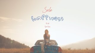Cover images [ENG/HAN] 'haPPiness' - SOLE (쏠) Lyrics 가사