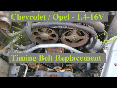 Timing Belt Replacement Chevrolet Kalos Aveo 14 16v 92cp Youtube