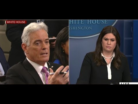 Sarah Sanders, Fox ' John Roberts squabble during White House press briefing Gaggle