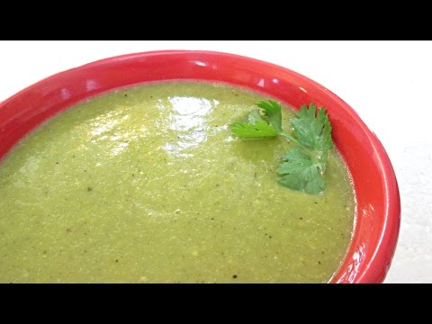 Green Enchilada Sauce - Fresh Tomatillos And Anaheim Peppers - PoorMansGourmet