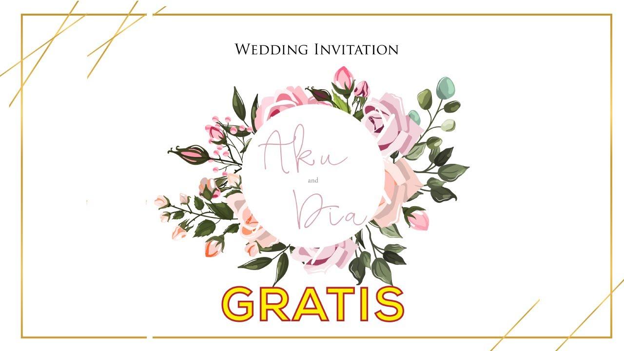 Template Undangan Pernikahan Digital Gratis Powerpoint Digital Wedding Invitation Free Part 2 Youtube