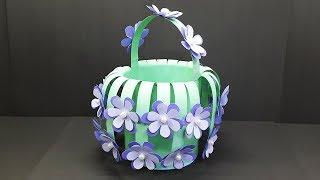 How to make Paper Basket easy for Christmas Gift - DIY Paper Basket (Flower Basket)