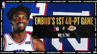 Embiid's 1st 40-PT Game | #NBATogetherLive Classic Game