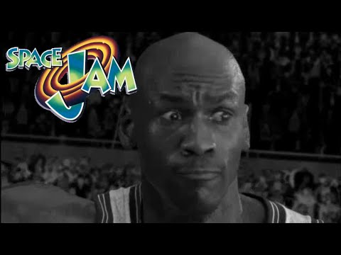 SpaceJam Backwards in Black and White