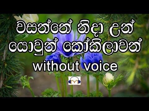 Wasanthe Nida Un Karaoke (without voice) වසන්තේ නිදා උන්