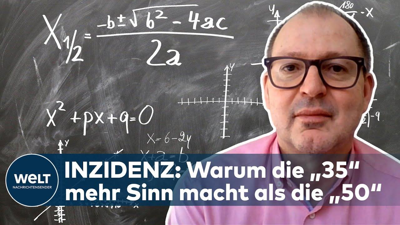 Mathematik-Professor erklärt die Berechnung des Inzidenz-Wertes | WELT INTERVIEW - WELT Nachrichtensender