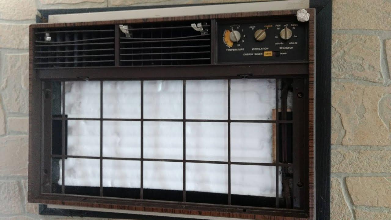Frozen Evaporator Coil Ge Window Air Conditioner Youtube