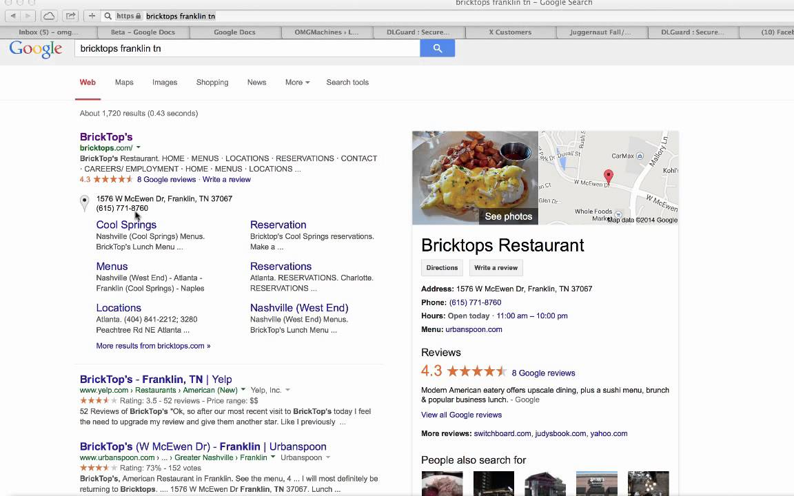 Restaurants In Franklin TN Bricktops YouTube
