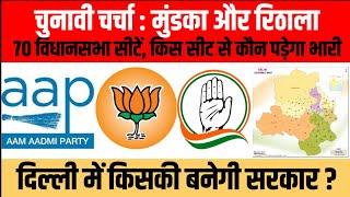 Delhi Assembly Elections 2020  मुंडका और रिठाला विधानसभा सीट से ग्राउंड रिपोर्ट  Chunavi Charcha