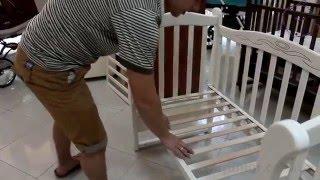 Сборка детской кроватки на маятнике