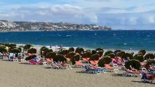GRAN CANARIA - Playa del Ingles Strand und das Meer Januar 2016  GK