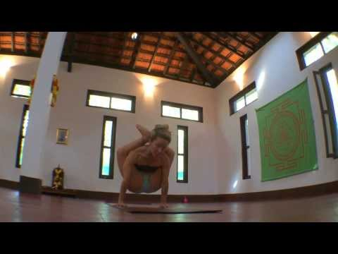 Ashtanga Yoga Supta Kurmasana with Kino in Goa