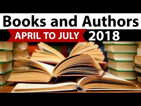 Books & Authors - Complete April to July 2018 - Current Affairs 2018 in Hindi - IBPS/SSC CGL/SBI
