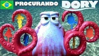 TOYSBR Disney Procurando Dory Color Changers Octopus Surprise Squirt Hank Bath Playset water toy