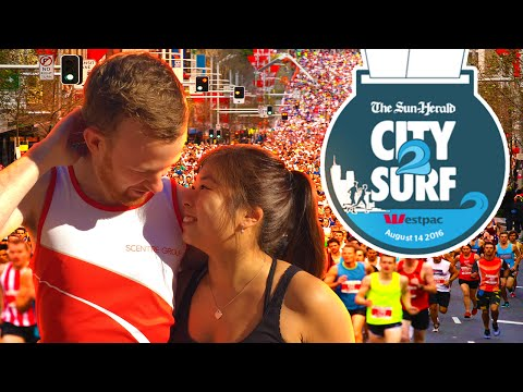 CITY2SURF LONG DISTANCE RUN IN SYDNEY with GIRLFRIEND
