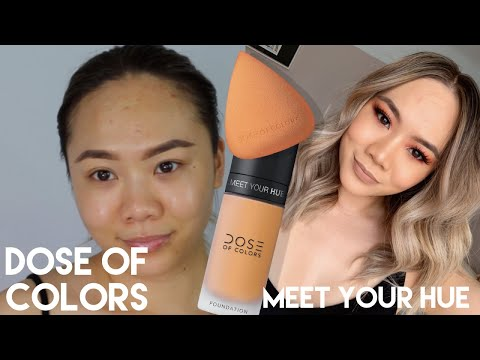 REVIEW & THOUGHTS ON DOSE OF COLORS #MEET YOUR HUE FOUNDATION! | HELEN DUONG thumbnail