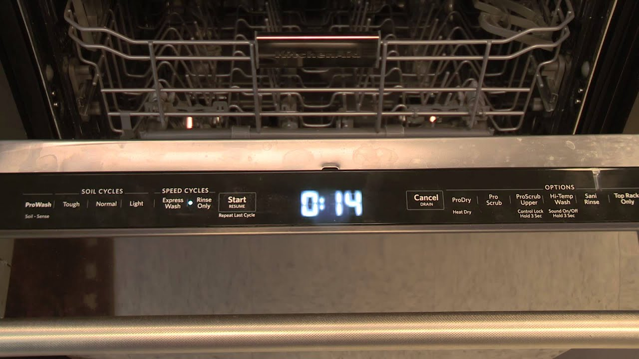 KitchenAid Dishwasher Touchpad Instructions