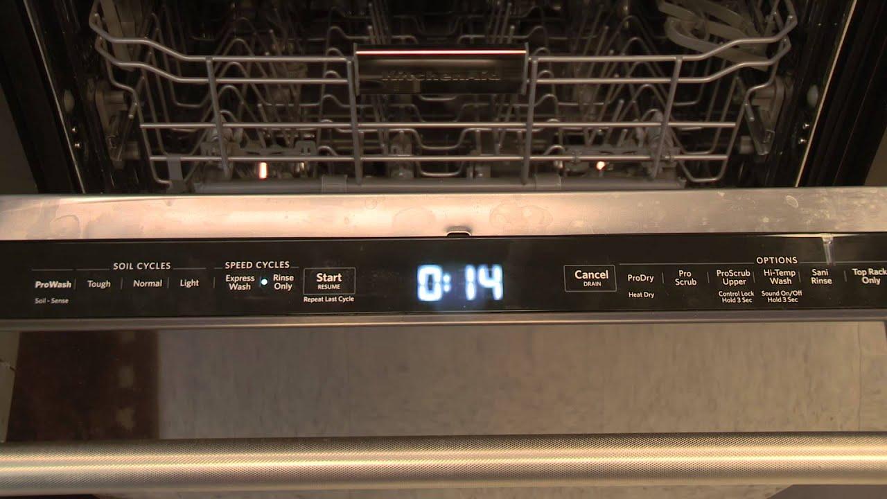 KitchenAid Dishwasher Touchpad Instructions  YouTube