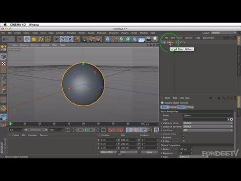 Cinema 4D Tutorial - Intro To Cinema 4D (Overview) - Part 1