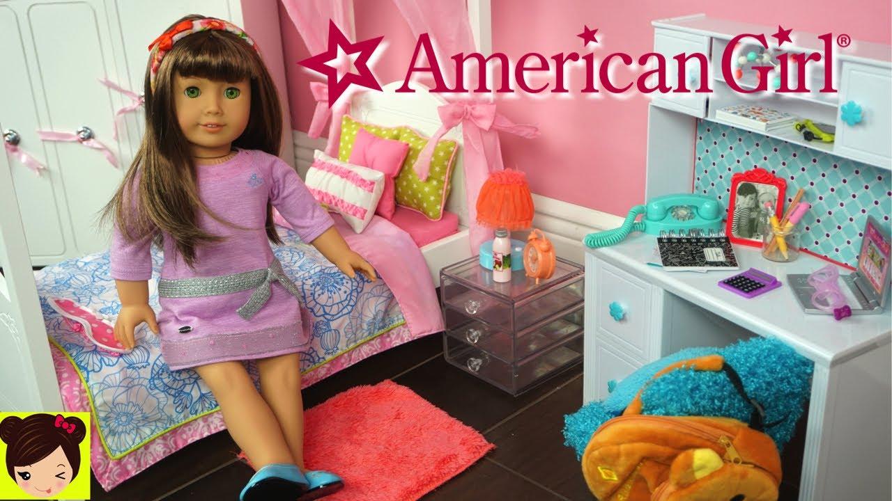 140383dbe Mi Primera Muñeca American Girl y Decoramos Su Nuevo Cuarto - Juguetes de  titi