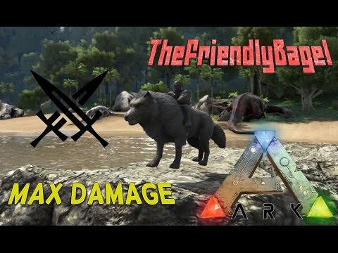 Ark max melee damage direwolf youtube malvernweather