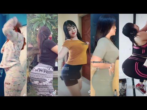 Benjolan Yang Meresahkan!! Goyang Tiktok Tante Janda  Bokong Semok Hot Terbaru 2021!