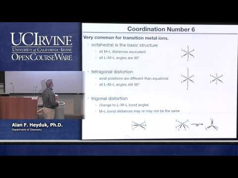 Chemistry 107. Inorganic Chemistry. Lecture 22.