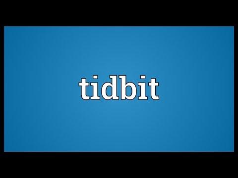 Tidbit Meaning