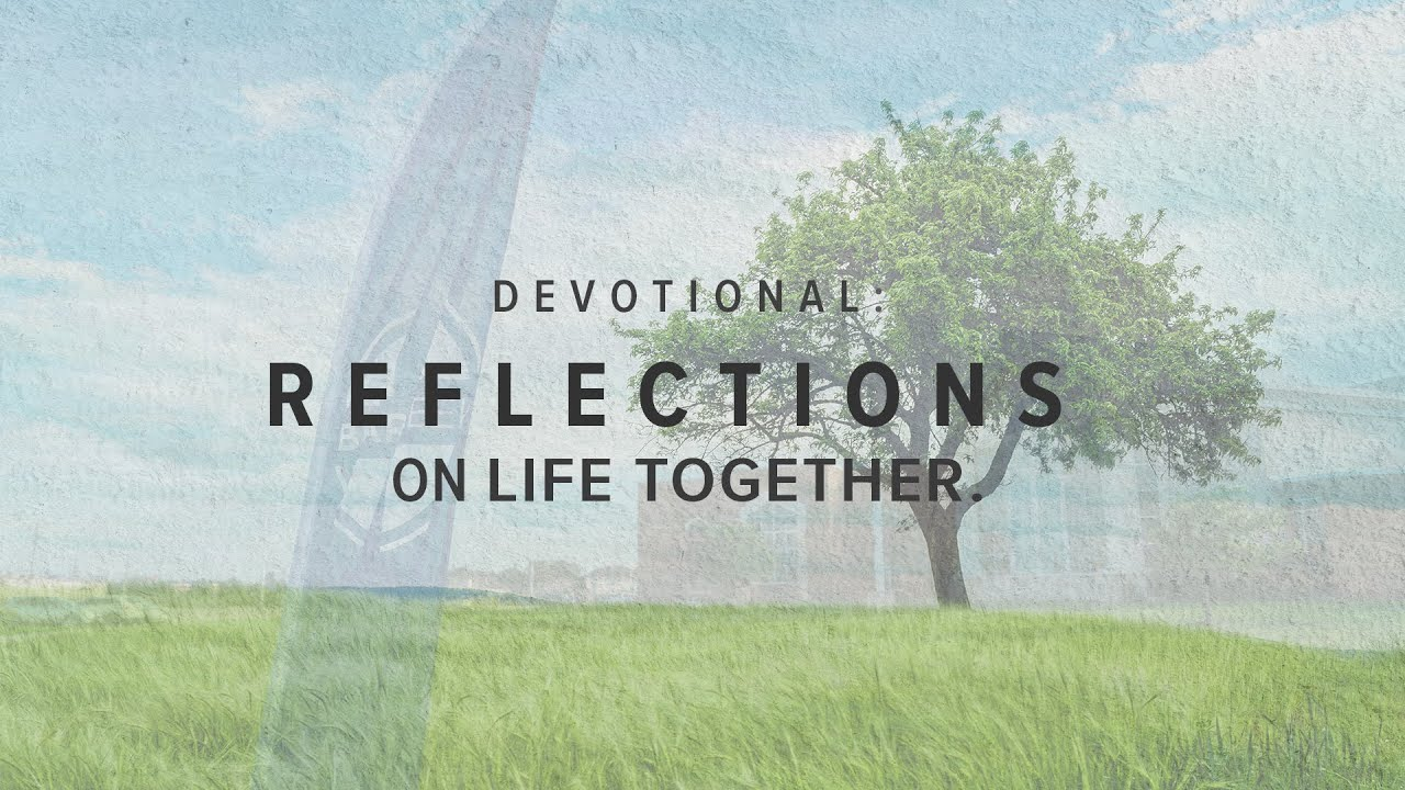 Reflections on Life Together: