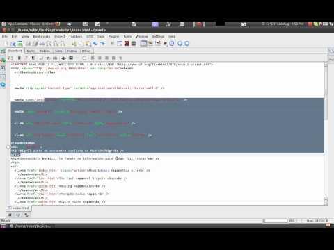 Basic: How To Edit Html Using Excellent Quanta Editor In Ubuntu