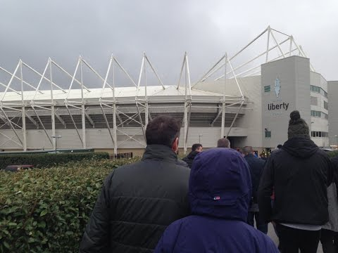 Groundhop/Vlog at Liberty Stadium Swansea vs Burnley - AMAZING SCENES