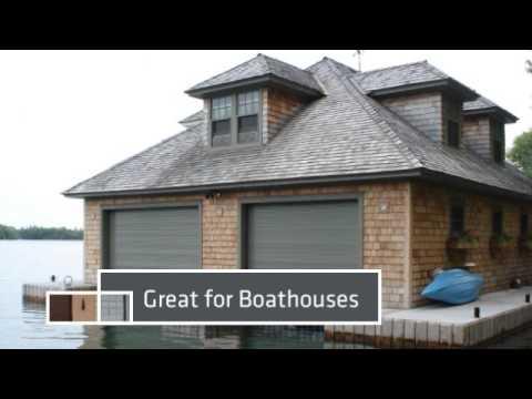Garage Door Boathouse \u0026 Laneway Roll Up Doors & Garage Door Boathouse \u0026 Laneway Roll Up Doors - YouTube