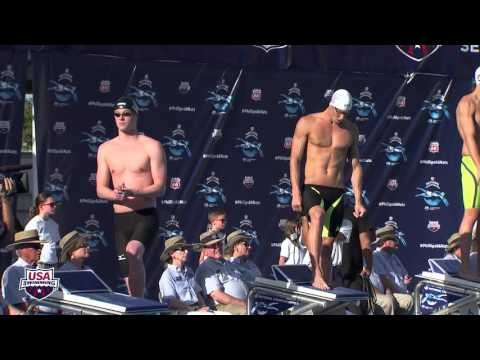 Michael Phelps in 2015 Phillips 66 Nationals Swimming Championship  Men's 100 meters Fly